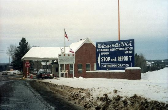 U.S. border station at the Canadian border (Credit – Peter Dutton)