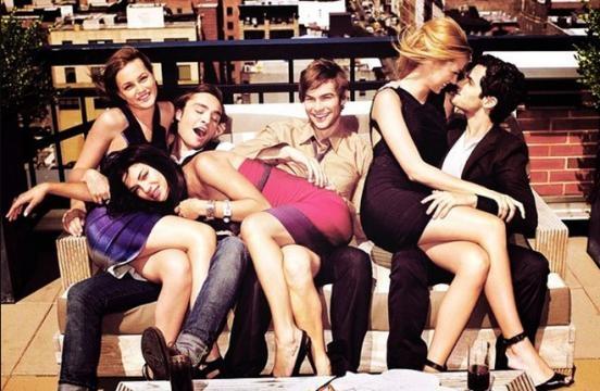 Gossip Girl, el elenco al completo.