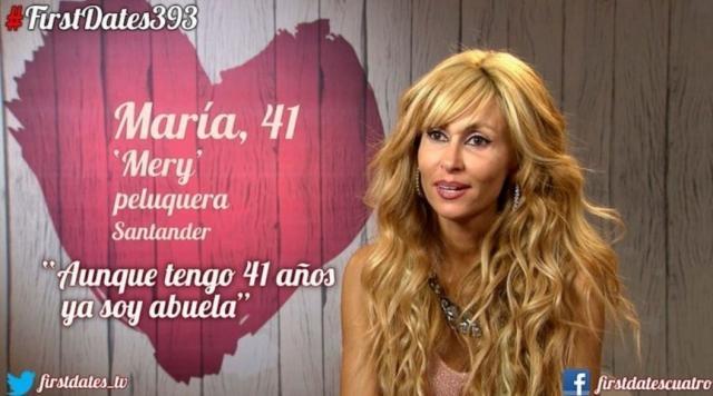 María Peña durante su participación en First Dates