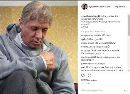 Sylvester Stallone demacrado (via instagram sylvesterstallone1946)