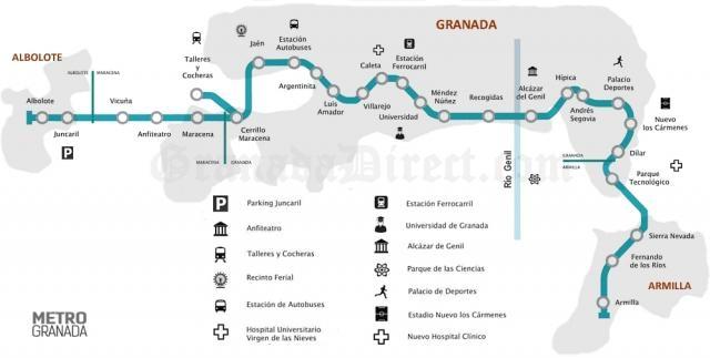 Plano del metropolitano de Granada 2
