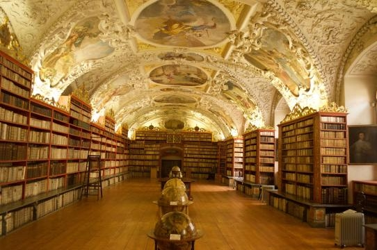 The Strahov library houses thousands of books. - Image Credit: Matthew Chacko