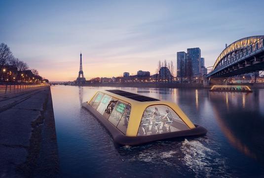 Floating Gym In Paris Uses Human Energy To Sail Down The Seine ... - boredpanda.com