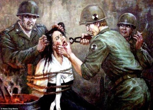 1-Imagini folosite de propaganda nord-coreeană pentru a exacerba sentimentele antiamericane - Foto: Daily Mail (© News Dog Media)