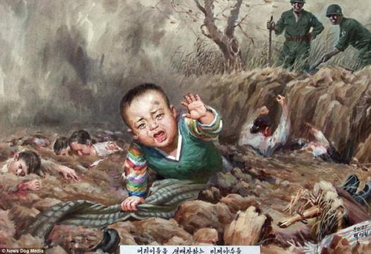 2-Imagini folosite de propaganda nord-coreeană pentru a exacerba sentimentele antiamericane - Foto: Daily Mail (© News Dog Media)