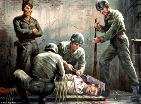 3-Imagini folosite de propaganda nord-coreeană pentru a exacerba sentimentele antiamericane - Foto: Daily Mail (© News Dog Media)
