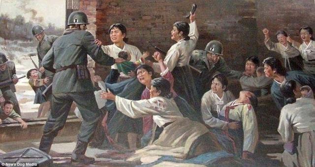 4-Imagini folosite de propaganda nord-coreeană pentru a exacerba sentimentele antiamericane - Foto: Daily Mail (© News Dog Media)