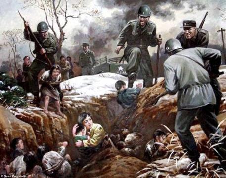 5-Imagini folosite de propaganda nord-coreeană pentru a exacerba sentimentele antiamericane - Foto: Daily Mail (© News Dog Media)