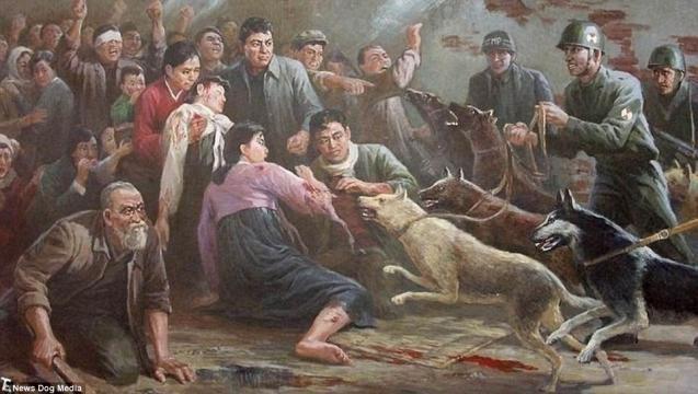 6-Imagini folosite de propaganda nord-coreeană pentru a exacerba sentimentele antiamericane - Foto: Daily Mail (© News Dog Media)