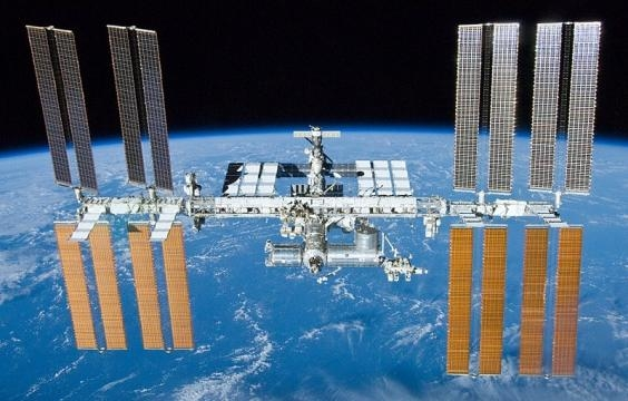 A view of the International Space Station. [Image via Wikimedia Commons]