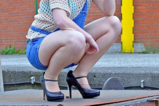 Frech und sehr sehr Sexy. Strumpfhose mit Shorts.