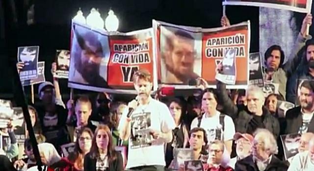 Gran Acto por la aparición con vida YA de Santiago Maldonado - Jornada Nacional e Internacional Izquierda Socialista