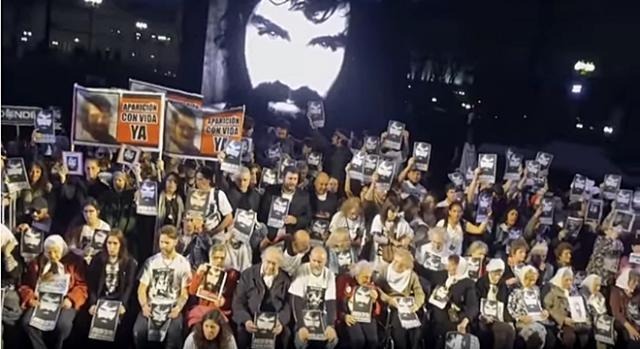 La marcha por Santiago Maldonado vista desde un drone Noticias en Red