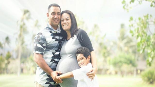 Chervonne Magaoa e sua família