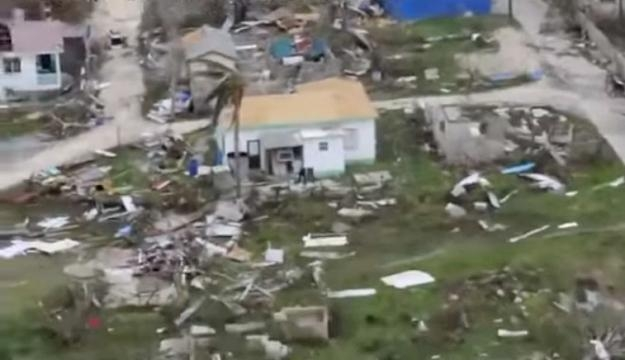 90% of homes in Barbuda have been damaged, causing 1,600 residents to be homeless [Image: YouTube/Political Watch]
