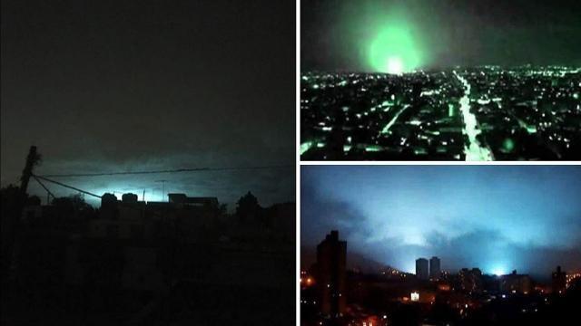 Extrañas luces en el cielo, luego del terremoto de 8.2 en México.