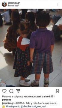 Cecilia e Jeremias Rodriguez in uno scatto quando era bambini