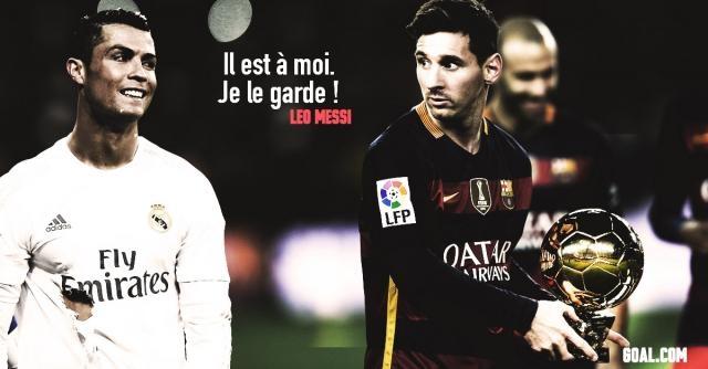 Ballon d'or : Une perpétuelle compétition entre Messi et Ronaldo !-(image goal.com)