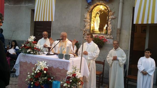 Padre Enzo nella sua ultima Messa a Vizzini