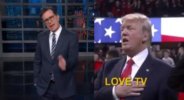 Stephen Colbert, Donald Trump, via Twitter