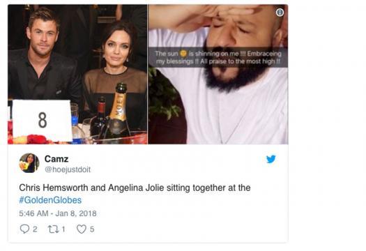Jolie en los Globos de Oro 2018