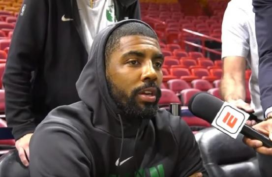 Kyrie Irving scored 20 points in their 114-103 win over 76ers. - [Image Credit: ESPN / YouTube screencap]