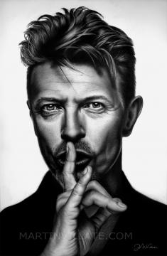 Retrato de David Bowie, Fuente: Juan Martín Villate