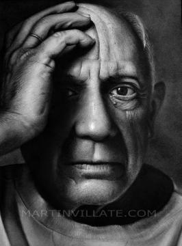 Retrato hiperrealista de Picasso. Fuente: Juan Martín Villate