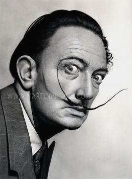 Retrato hiperrealista de Salvador Dali. Fuente: Juan Martín Villate