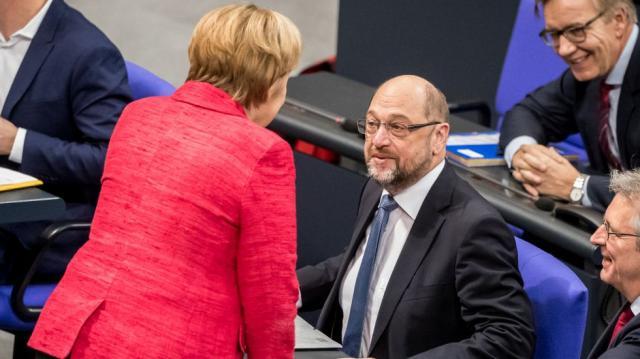 SPD und CDU - Schulz und Merkel - verstehen ihre Verhandlungen zum Aufbau einer neuen Regierung als Wählerauftrag | Cicero Online - cicero.de