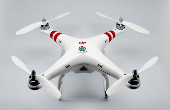 WMCH Drone, a DJI Phantom 1 (Image credit – Clement Bucco-Lechat, Wikimedia Commons)