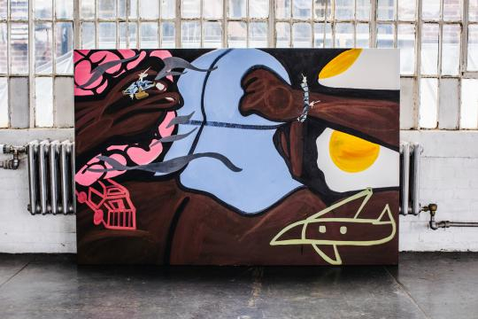 ASAP Ferg finished painting for Hennessy (image use with permission of Hennessy))