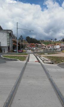 imagen de las obras del tranvía de Cuenca en la actualidad