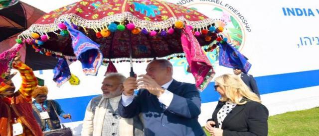 Modi-Netanyahu visit Sabarmati Ashram (Photo via PIF/Twitter)