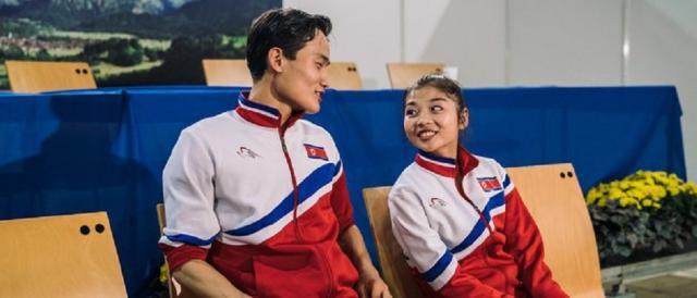 Kim Ju-sik e Ryom Tae-ok, i due pattinatori artistici nordcoreani che dovrebbero prendere parte ai Giochi