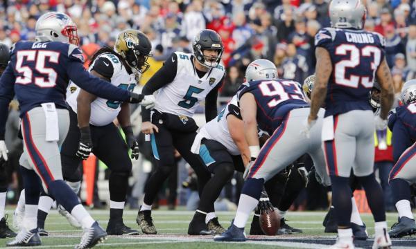 Blake Bortles manejando el juego, se quedó cerca del Super Bowl. Jaguars Wire.com.