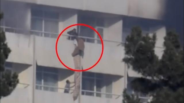 Kabul hotel attack. 40 dead. Image -screenshot youtube.com Al Jazeera.com