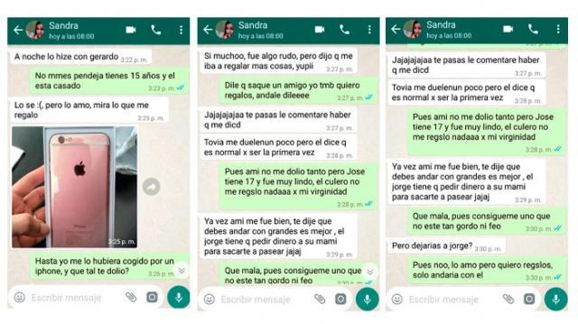 Aquí las conversaciones de WhatsApp