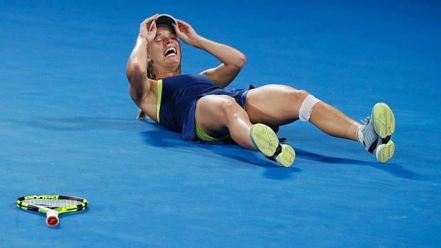El momento justo cuando Caroline ganó su primer Grand Slam. SportingNews.com.