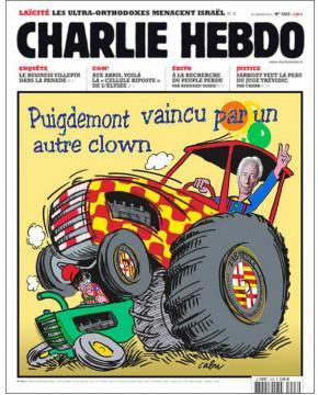 La última portada de Charlie Hebdo manipulada en Tabarnia