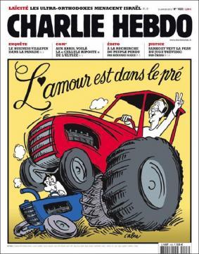 La portada auténtica, del 2012, con Sarkozy y Hollande
