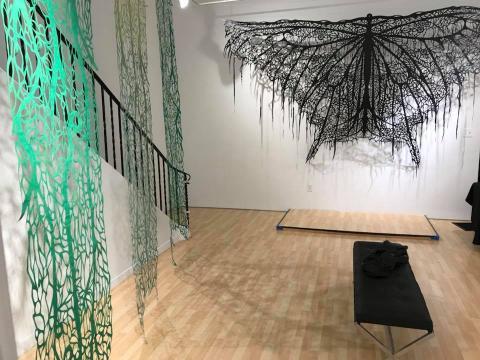 Pasillo de la galería Samara Gallery (Fotografía Vía Facebook de Andrés Paredes).