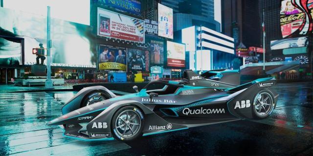Batman llega a la Fórmula E y trae su Batmovil bajo el brazo