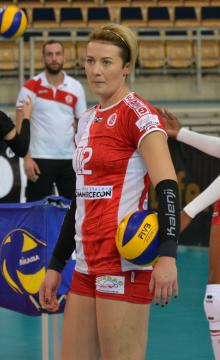 Izabela Kowalińska jest jedną z liderek drużyny ŁKS Commercecon Łódź (fot. sekcja ŁKS Commercecon Łódź)