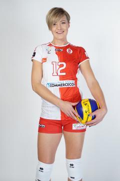 Izabela Kowalińska występuje w drużynie ŁKS Commercecon Łódź (fot. sekcja ŁKS Commercecon Łódź)