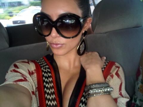 Kim Kardashian wearing Loren Jewels bracelets and earrings… | Flickr - flickr.com