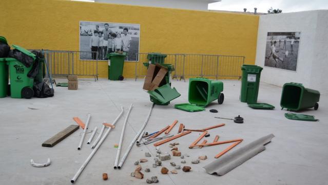 Estádio Estádio Nogueirão foi depredado em tumulto em janeiro de 2016 (Ney Sarmento/PMMC)
