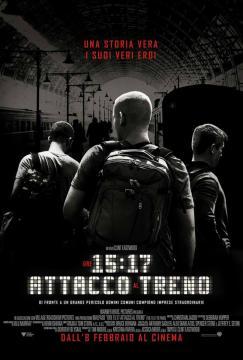 'Ore 15:17-attacco al treno': locandina.