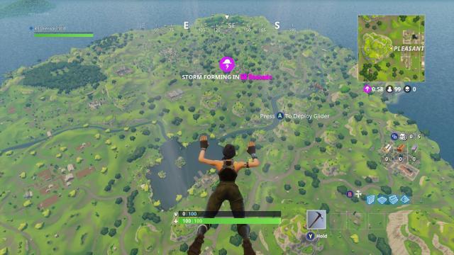 Une grand map, de l'équipement éparpillé au sol, un seul vainqueur! (via- Epic Games)