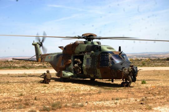 El uso de helicópteros como el Caimán NH-90 será vital en los ejércitos del futuro